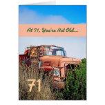 FUNNY Happy 71st Birthday - Vintage Orange Truck Card