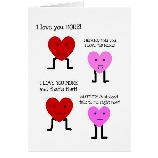 funny happy anniversary card i love you more