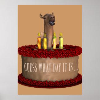 Funny Happy Birthday Camel Print