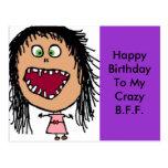 Funny Happy Birthday Card Postcard