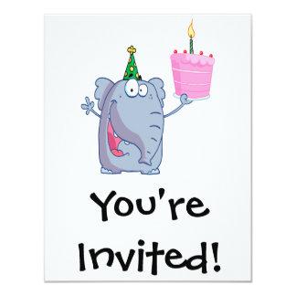 funny happy birthday elephant cartoon card