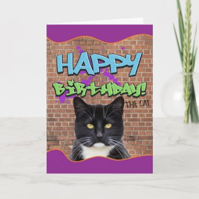 Graffiti Birthday Card Zazzle