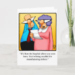 "Funny Happy Birthday Greeting Card<br><div class=""desc"">Enjoy spreading the laughter with this hilarious happy birthday greeting card by artist Bill Abbott; send some laughs along with your best wishes for a happy birthday. Bill Abbott"