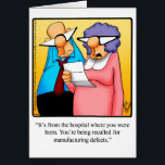 """Funny Happy Birthday Greeting Card<br><div class=""""desc"""">Enjoy spreading the laughter with this hilarious happy birthday greeting card by artist Bill Abbott; send some laughs along with your best wishes for a happy birthday. Bill Abbott&#39;s cartoon &quot;Spectickles&quot; the internationally syndicated comic has also appeared in Hallmark U.K.,  Reader&#39;s Digest and other fine magazines!</div>"""
