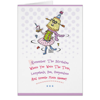 Funny Happy Birthday Greeting Greeting Card