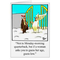 Funny Happy Birthday Humor Greeting Card
