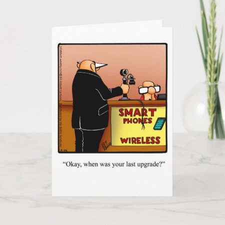 Funny Happy Birthday Humor Greeting Card