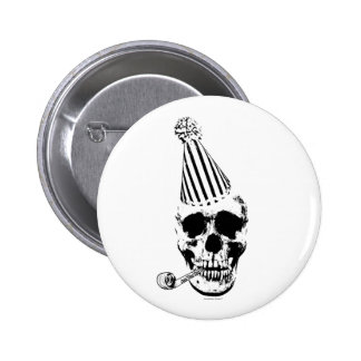 Funny Happy Birthday Party Skull 2 Inch Round Button