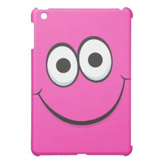 Funny happy cartoon face iPad case