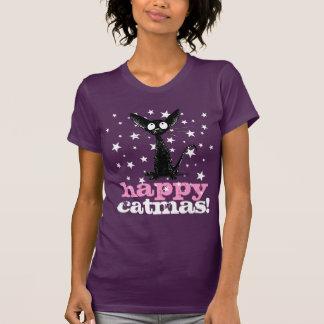 Funny Happy Catmas Christmas Cat! Tee Shirt