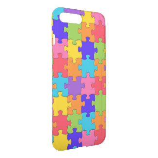 Funny Happy Colorful Puzzle Pieces Jigsaw Case
