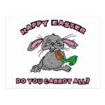 Funny Happy Easter Bunny Postcard