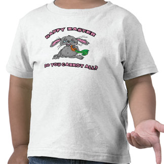 Funny Happy Easter Bunny Toddler T Shirts
