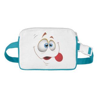 Funny Happy Face Blue Eyes Waist Bag