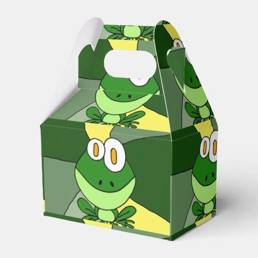 Funny Happy Frog Art Favor Box
