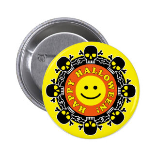 Funny Happy Halloween Button