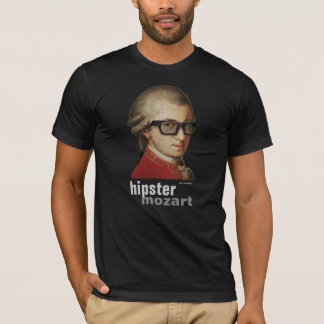 Funny Happy Hipster Mozart - Men and Women's Dark T-Shirt