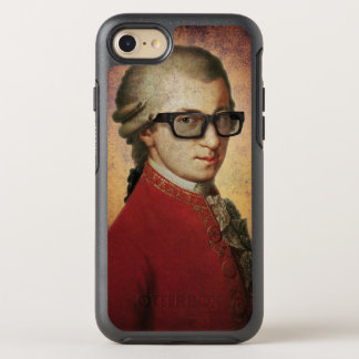 Funny Happy Hipster Wolfgang Amadeus Mozart OtterBox Symmetry iPhone 7 Case