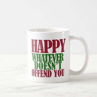 Funny Happy Holidays Merry Christmas parody Coffee Mug