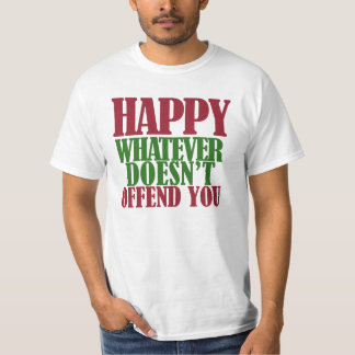 Funny Happy Holidays Merry Christmas parody T-Shirt