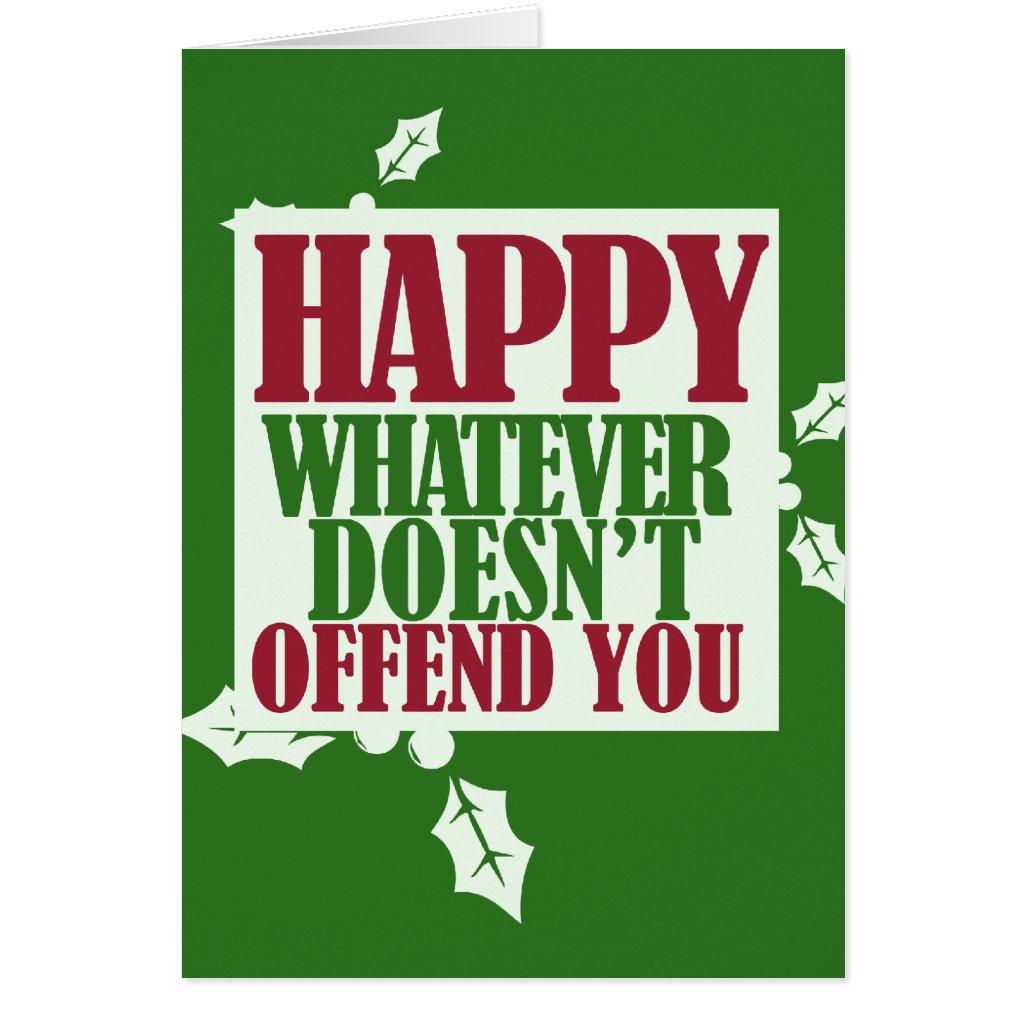 Funny Happy Holidays VS Merry Christmas humor Greeting Cards: poshonabudget.com/2014/11/christmas-card-preview-funny-cards.html