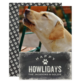 Funny Happy Howlidays Dog Lover Christmas Photo Card