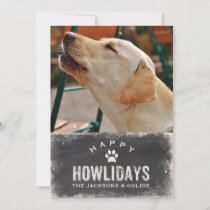 Funny Happy Howlidays Dog Lover Christmas Photo Holiday Card