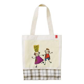 Funny Happy Kids Zazzle HEART Tote Bag
