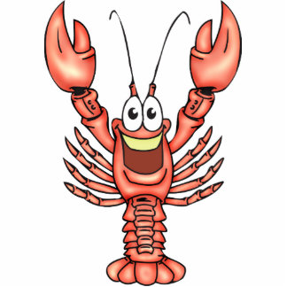 Funny Happy Lobster Acrylic Cut Out