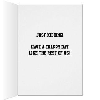 Funny HAPPY MONDAY! Greeting Card