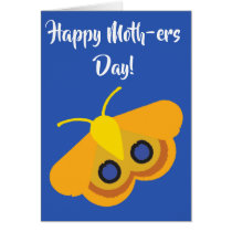 Funny Happy Mother's Day Io Moth Card