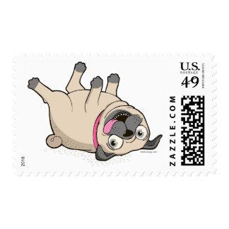 Funny Happy Pug Postage