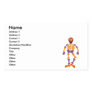 funny happy skeleton business card