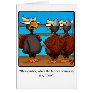 Funny Happy Thanksgiving Greeting Card