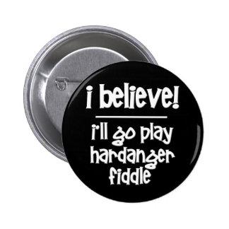 Funny Hardanger Fiddle Pinback Button