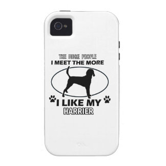 Funny harrier designs Case-Mate iPhone 4 cases