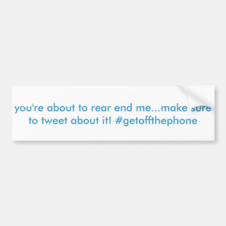funny hashtag twitter bumper sticker car bumper sticker