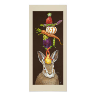 Funny Havest Hare flat  card