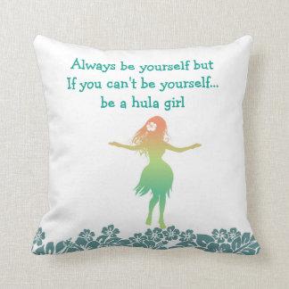 Funny Hawaiian theme Throw Pillow