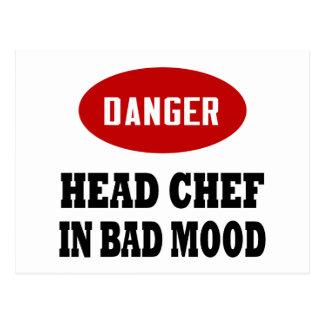 Funny Head Chef Postcard