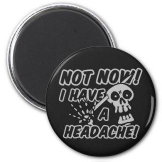 Funny Headache Skull buttons Magnet