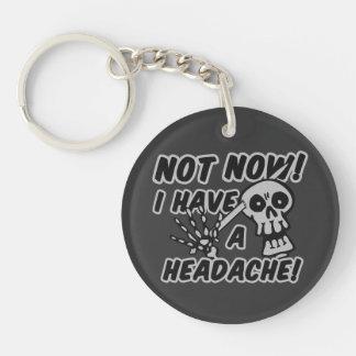 Funny Headache Skull key chain
