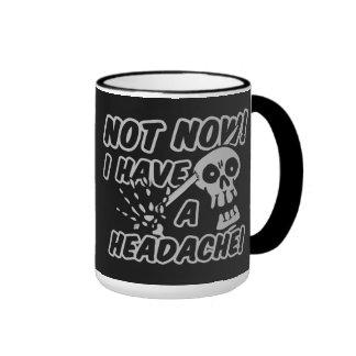 Funny Headache Skull mugs
