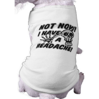 Funny Headache Skull pet clothing
