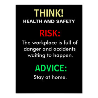 Funny Health And Safety Advice And Office Sign Poster at Zazzle