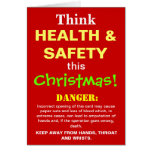 Funny Health and Safety Christmas Warning Joke Greeting Cards