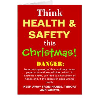Funny Health and Safety Christmas Warning Joke Card