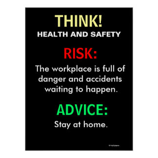 Funny Health and Safety Office Sign and Poster