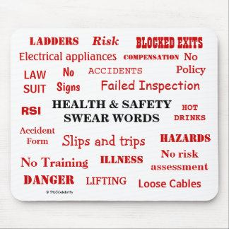 Funny Health and Safety Swear Words Joke Gift Mouse Pad