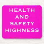 Funny Health and Safety Woman Boss Nickname Mouse Pad